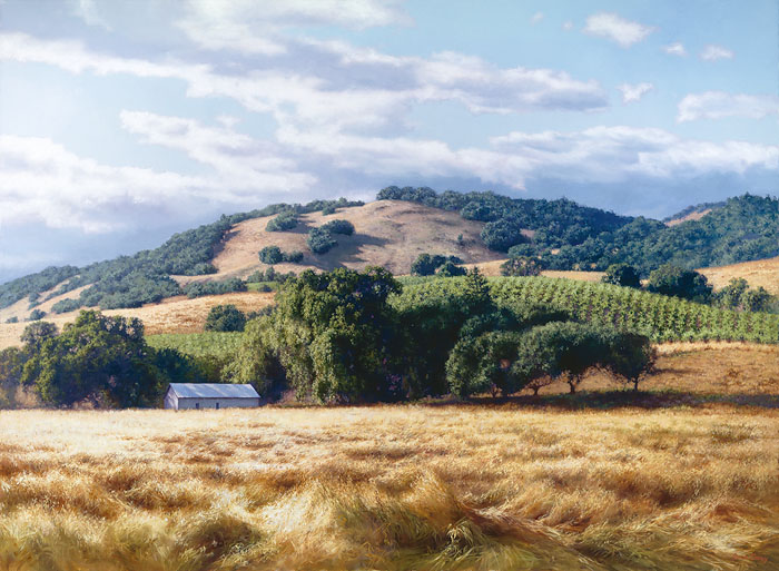 June Carey - California Wine Country -  LIMITED EDITION CANVAS Published by the Greenwich Workshop