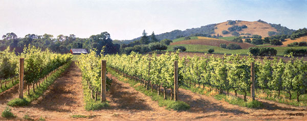 June Carey - Vineyard Before the Harvest -  MASTERWORK CANVAS EDITION Published by the Greenwich Workshop