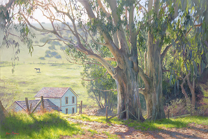 June Carey - Basking Eucalyptus -  LIMITED EDITION CANVAS Published by the Greenwich Workshop