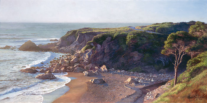 June Carey - Hidden Cove -  LIMITED EDITION CANVAS Published by the Greenwich Workshop