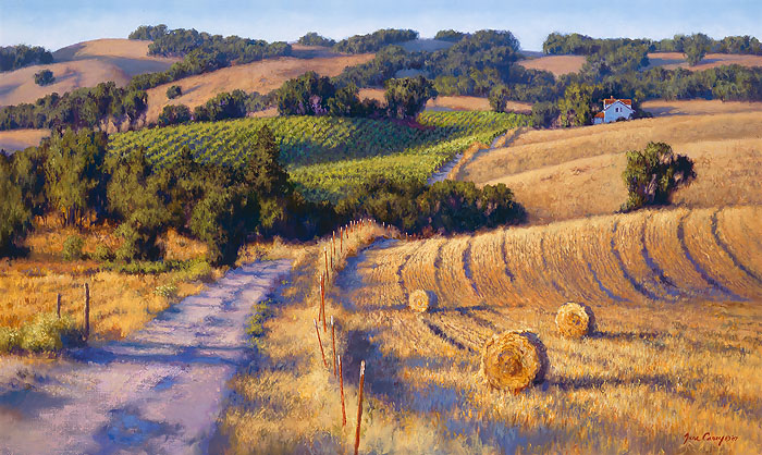 June Carey - Old Napa Road -  LIMITED EDITION CANVAS Published by the Greenwich Workshop