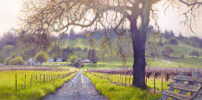 June Carey - Early Spring Sonoma Valley -  LIMITED EDITION CANVAS Published by the Greenwich Workshop
