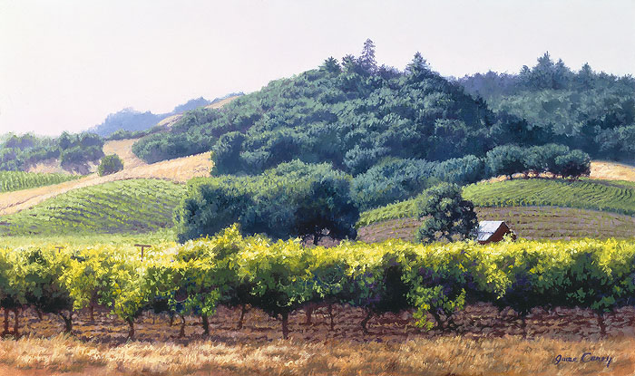 June Carey - Summer Vineyard -  LIMITED EDITION CANVAS Published by the Greenwich Workshop