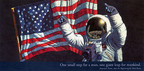 Alan Bean - AMERICA'S TEAM...JUST THE BEGINNING -  POSTER Published by the Greenwich Workshop