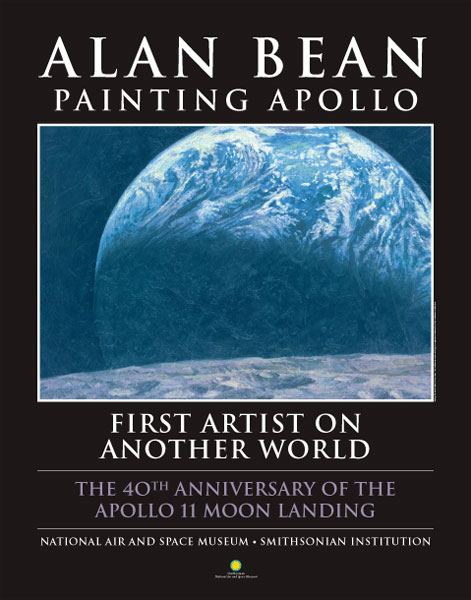Alan Bean - First Artist on Another World -  SMITHSONIAN POSTER Published by the Greenwich Workshop