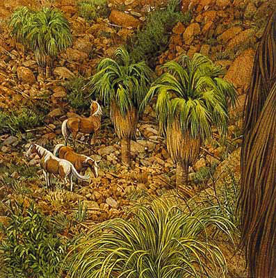 Bev Doolittle - WEST FORK PINTOS -  OPEN EDITION PRINT Published by the Greenwich Workshop