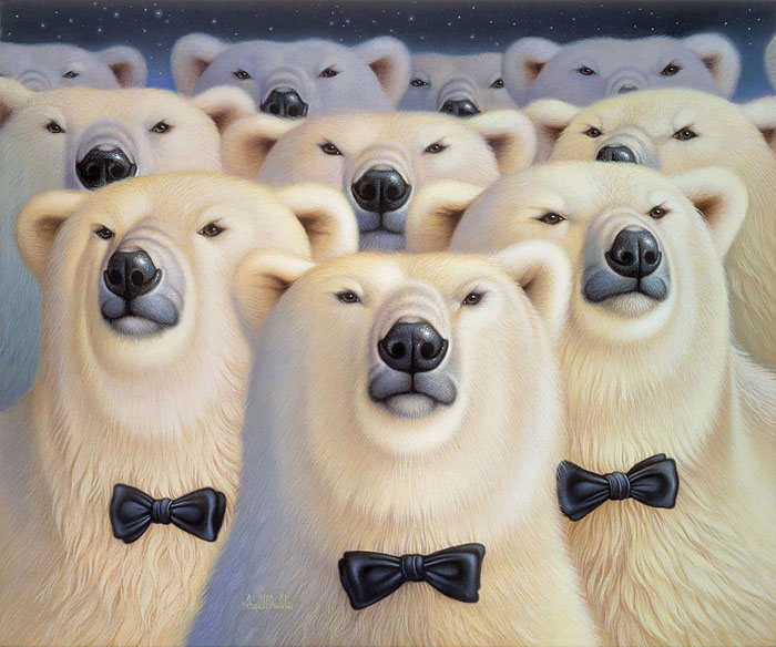 Braldt Bralds - Polar Bears -  OPEN EDITION CANVAS Published by the Greenwich Workshop