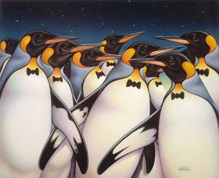Braldt Bralds - Penquins -  OPEN EDITION CANVAS Published by the Greenwich Workshop