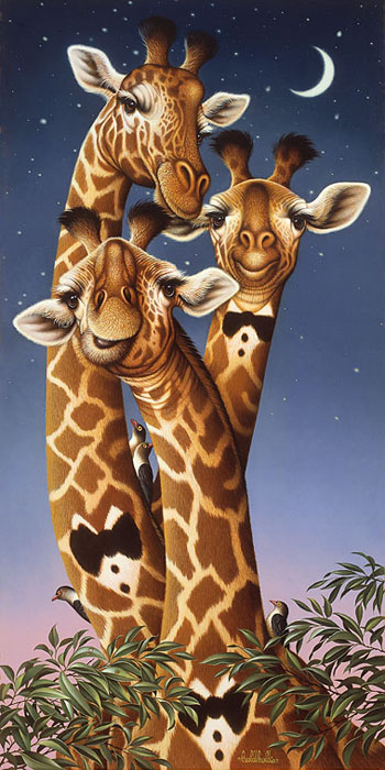Braldt Bralds - Giraffes -  OPEN EDITION CANVAS Published by the Greenwich Workshop