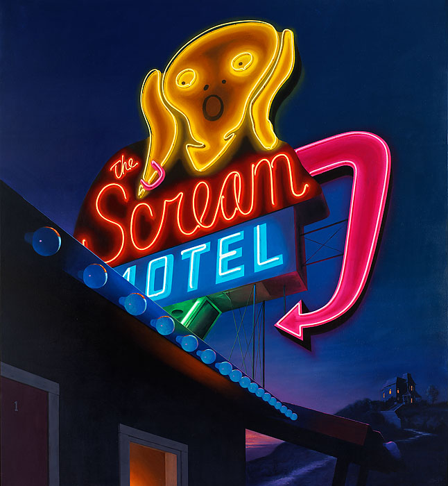 Ben Steele - Scream Motel -  OPEN EDITION CANVAS Published by the Greenwich Workshop