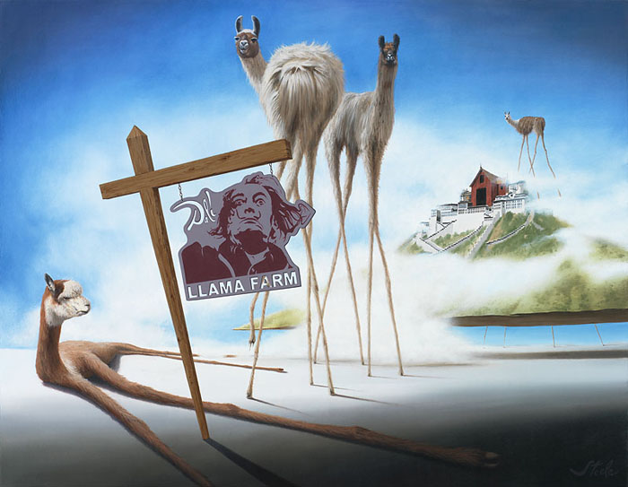 Ben Steele - Dali Llama -  OPEN EDITION CANVAS Published by the Greenwich Workshop