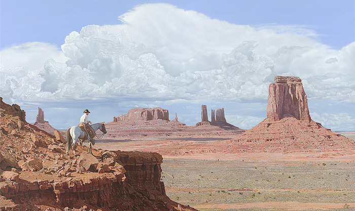 John Bye - Navajo Skyline -  OPEN EDITION CANVAS Published by the Greenwich Workshop