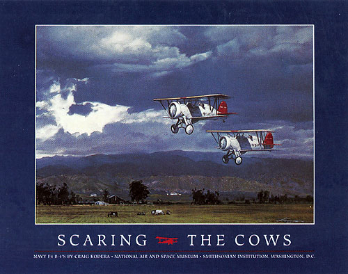 Craig Kodera - SCARING THE COWS -  POSTER Published by the Greenwich Workshop