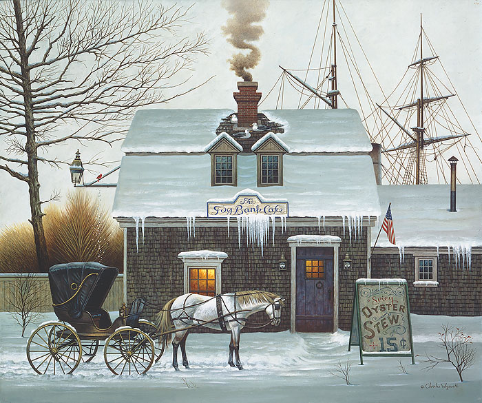Charles Wysocki - Belly Warmers -  ANNIVERSARY EDITION CANVAS Published by the Greenwich Workshop