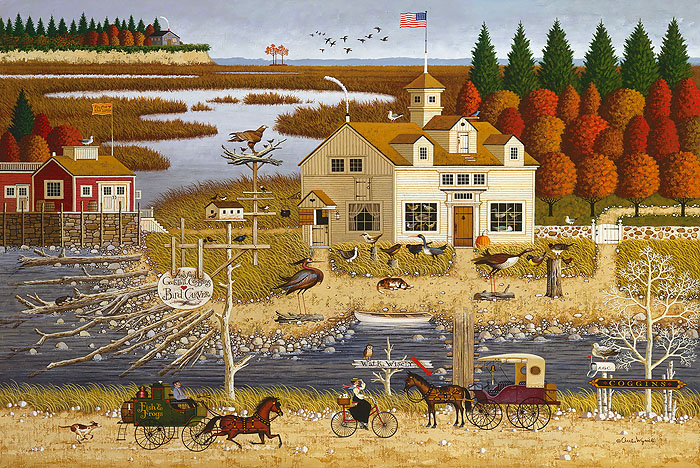 Charles Wysocki - Carver Coggins -  ANNIVERSARY EDITION CANVAS Published by the Greenwich Workshop