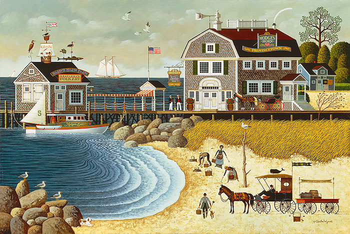 Charles Wysocki - Clammers at Hodge´s Horn -  ANNIVERSARY EDITION CANVAS Published by the Greenwich Workshop