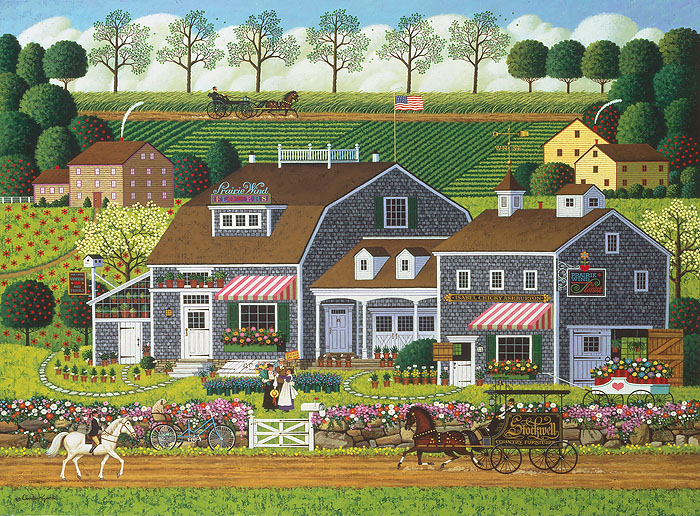 Charles Wysocki - Prairie Wind Flowers -  ANNIVERSARY EDITION CANVAS Published by the Greenwich Workshop