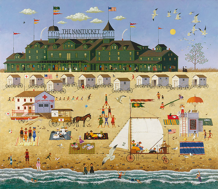 Charles Wysocki - The Nantucket -  ANNIVERSARY EDITION CANVAS Published by the Greenwich Workshop