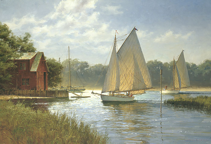 Don Demers - On a Midday Tide -  OPEN EDITION CANVAS Published by the Greenwich Workshop