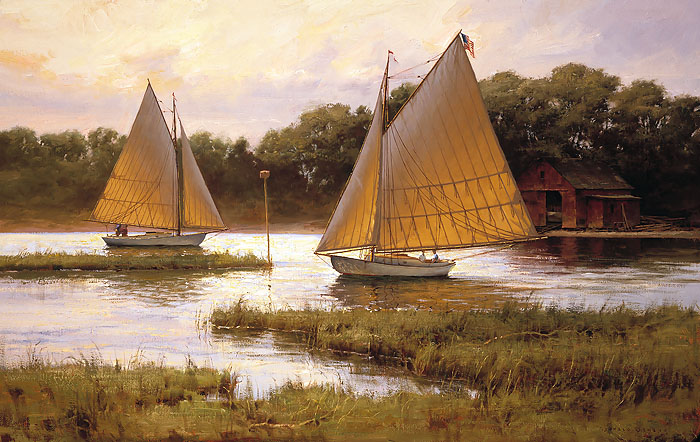 Don Demers - Summer Times -  OPEN EDITION CANVAS Published by the Greenwich Workshop