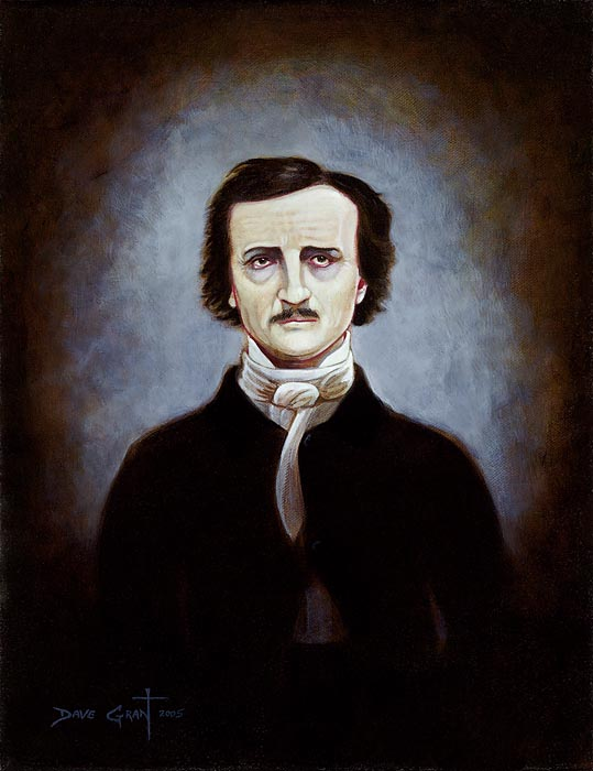 David Grant - Edgar Allen Poe Portrait -  OPEN EDITION CANVAS Published by the Greenwich Workshop