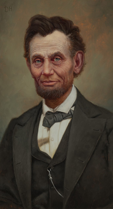Daniel Horne - President Abraham Lincoln -  OPEN EDITION CANVAS Published by the Greenwich Workshop