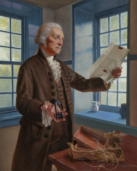 Daniel Horne - Washington and the Key -  OPEN EDITION CANVAS Published by the Greenwich Workshop