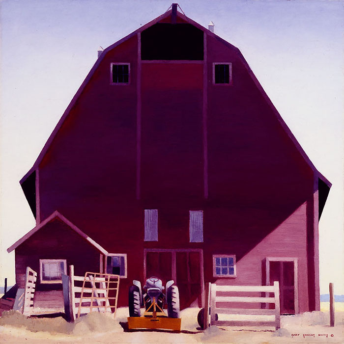 Gary Ernest Smith - Purple Barn -  OPEN EDITION CANVAS Published by the Greenwich Workshop
