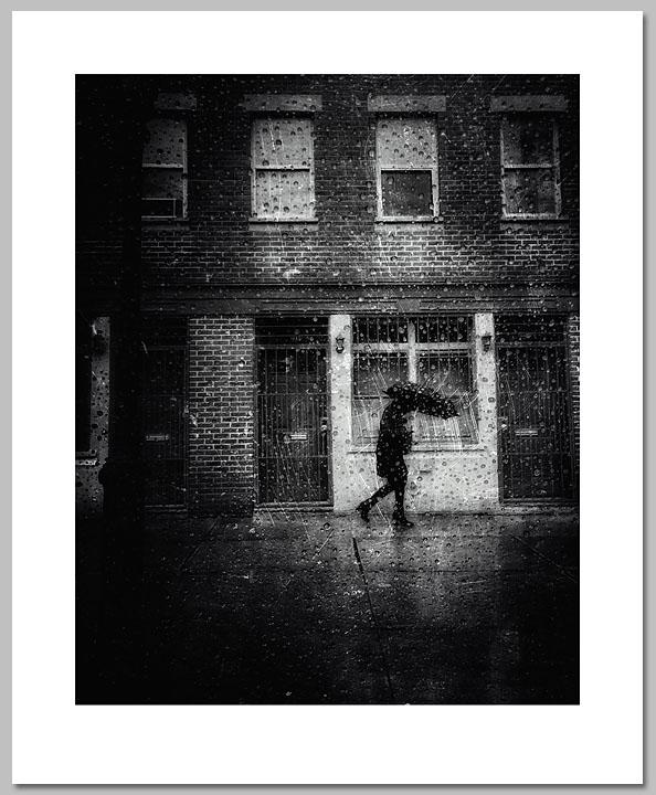 Myrna Weinreich - Umbrella in Rain -  OPEN EDITION PRINT Published by the Greenwich Workshop