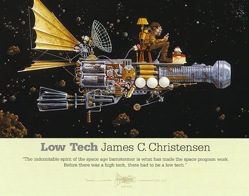 James C. Christensen - LOW TECH -  POSTER Published by the Greenwich Workshop