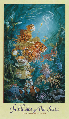 James C. Christensen - FANTASIES OF THE SEA -  POSTER Published by the Greenwich Workshop