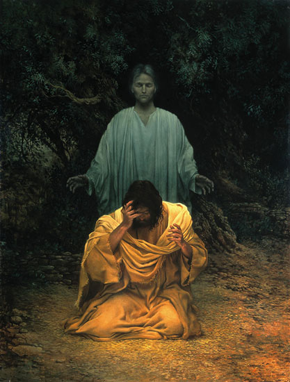 James C. Christensen - GETHSEMANE-LARGE -  OPEN EDITION PRINT Published by the Greenwich Workshop