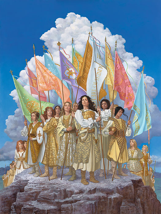 James C. Christensen - Arise and Shine Forth -  OPEN EDITION CANVAS Published by the Greenwich Workshop