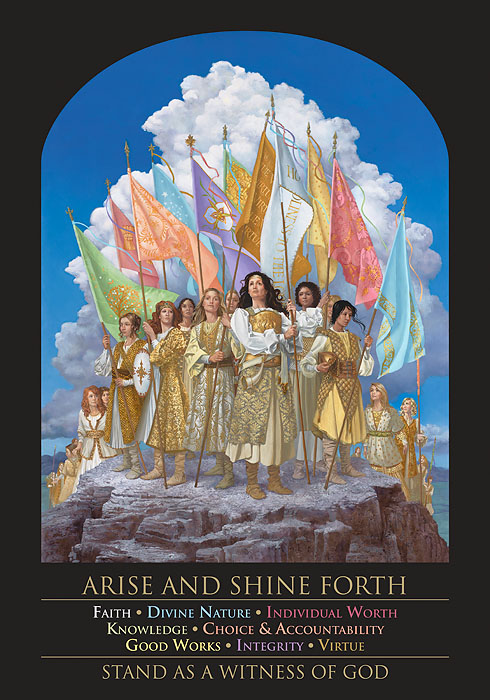James C. Christensen - Arise and Shine Forth -  POSTER Published by the Greenwich Workshop