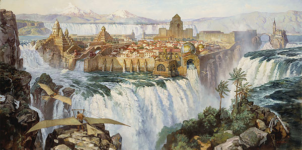 James Gurney - WATERFALL CITY -  OPEN EDITION PRINT Published by the Greenwich Workshop
