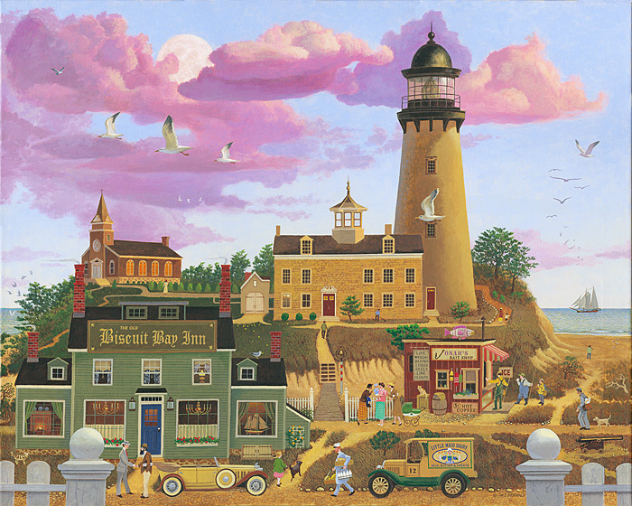 Jim Fitzgerald - BISCUIT BAY -  OPEN EDITION CANVAS Published by the Greenwich Workshop