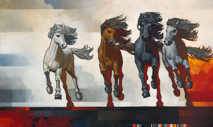 Craig Kosak - Four Horseman of the New Age -  OPEN EDITION CANVAS Published by the Greenwich Workshop