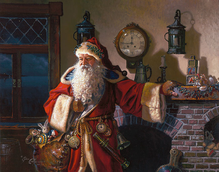 Dean Morrissey - Father Christmas -  OPEN EDITION CANVAS Published by the Greenwich Workshop