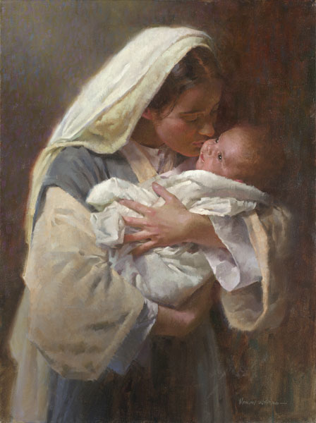 Morgan Weistling - Kissing the Face of God -  OPEN EDITION CANVAS Published by the Greenwich Workshop
