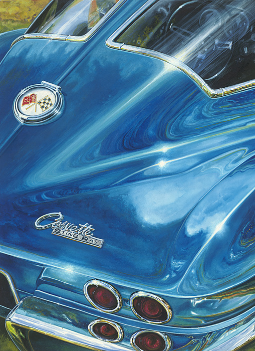 Nancy Graham - Corvette -  OPEN EDITION CANVAS Published by the Greenwich Workshop