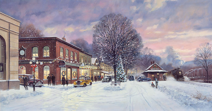 Paul Landry - It´s a Wonderful Christmas -  OPEN EDITION CANVAS Published by the Greenwich Workshop