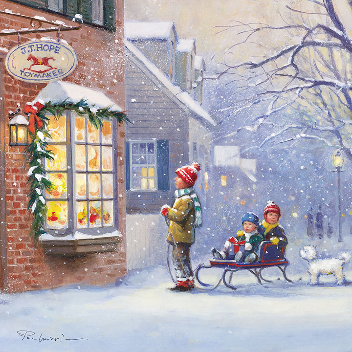 Paul Landry - A Christmas Wish -  OPEN EDITION CANVAS Published by the Greenwich Workshop