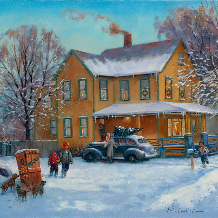 Paul Landry - A Christmas Story -  OPEN EDITION CANVAS Published by the Greenwich Workshop