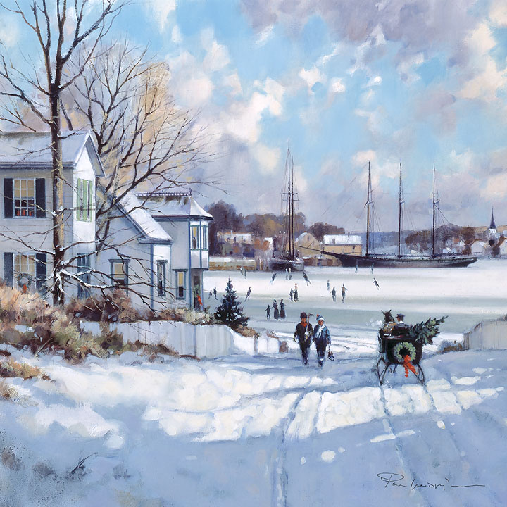Paul Landry - A Canadian Christmas -  OPEN EDITION CANVAS Published by the Greenwich Workshop