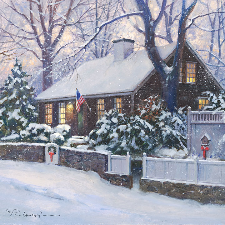 Paul Landry - Cape Cod Christmas -  OPEN EDITION CANVAS Published by the Greenwich Workshop