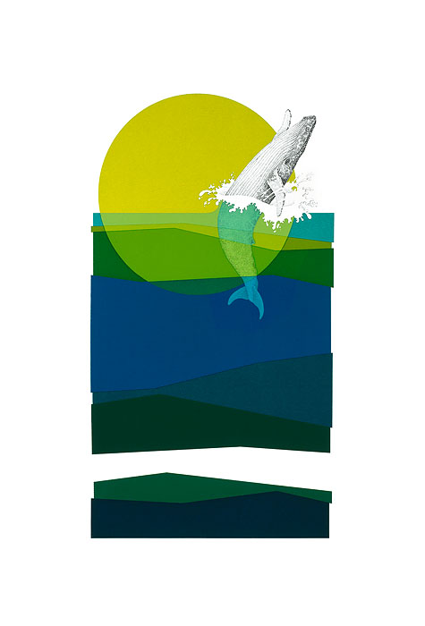 Peter Parnall - Humpback Whale -  OPEN EDITION CANVAS Published by the Greenwich Workshop
