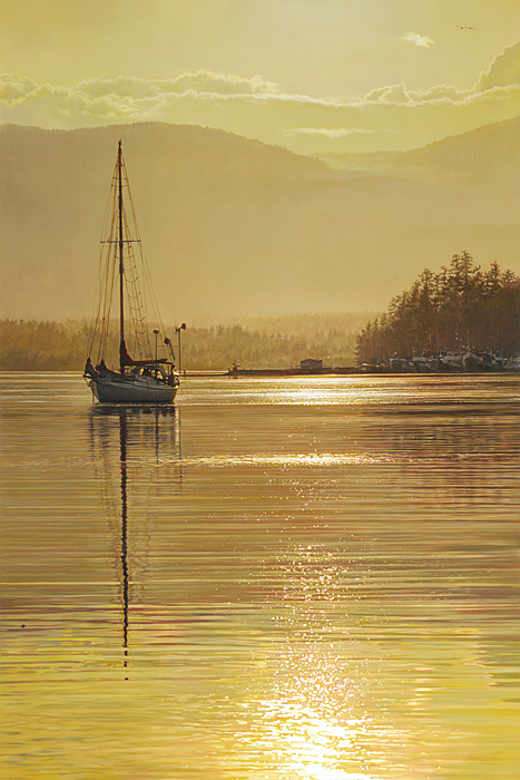 Richard Mravik - Amber Dusk -  OPEN EDITION CANVAS Published by the Greenwich Workshop