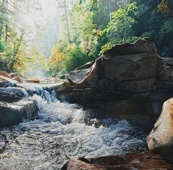 Richard Mravik - Hidden Stream -  OPEN EDITION CANVAS Published by the Greenwich Workshop