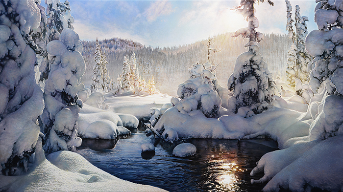 Richard Mravik - Alpine Light -  OPEN EDITION CANVAS Published by the Greenwich Workshop