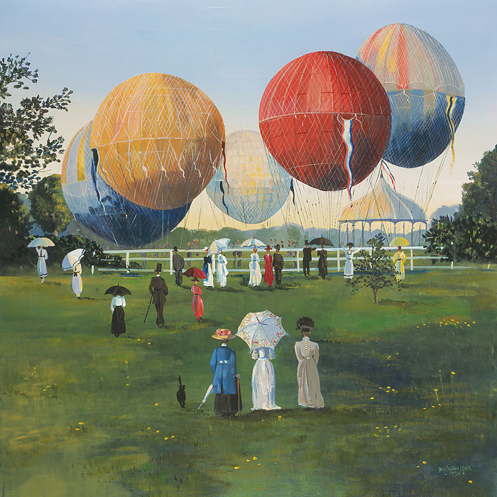 Sally Caldwell Fisher - Balloons in the Park -  OPEN EDITION CANVAS Published by the Greenwich Workshop
